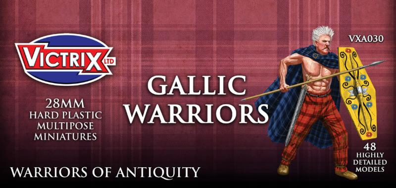 Victrix Gallic Warriors: 28mm Plastic Miniatures